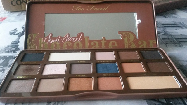 semi sweet chocolate bar too faced