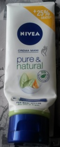 Nivea crema mani pure & nature aloe